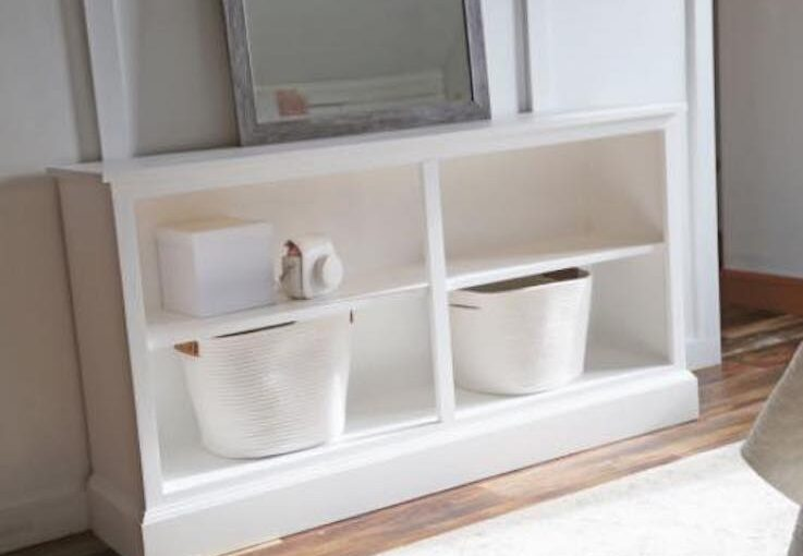 Console Bookcase Extra Wide