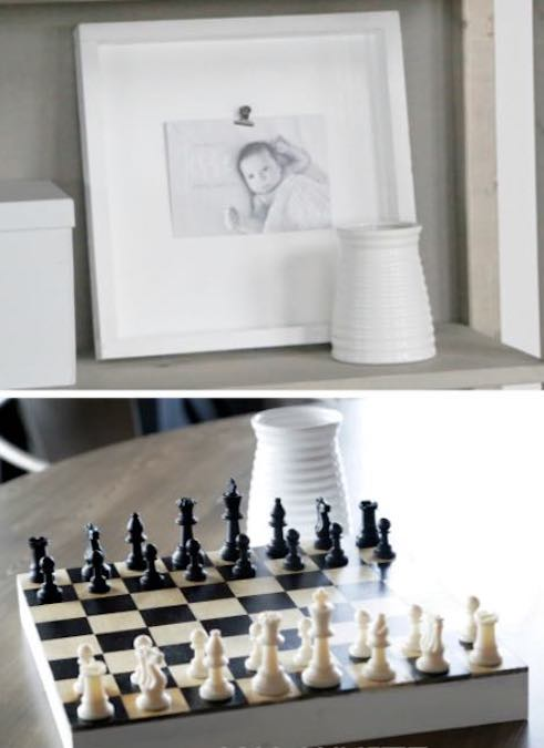 Build a combo Chess Board/Photo Frame using free plans.