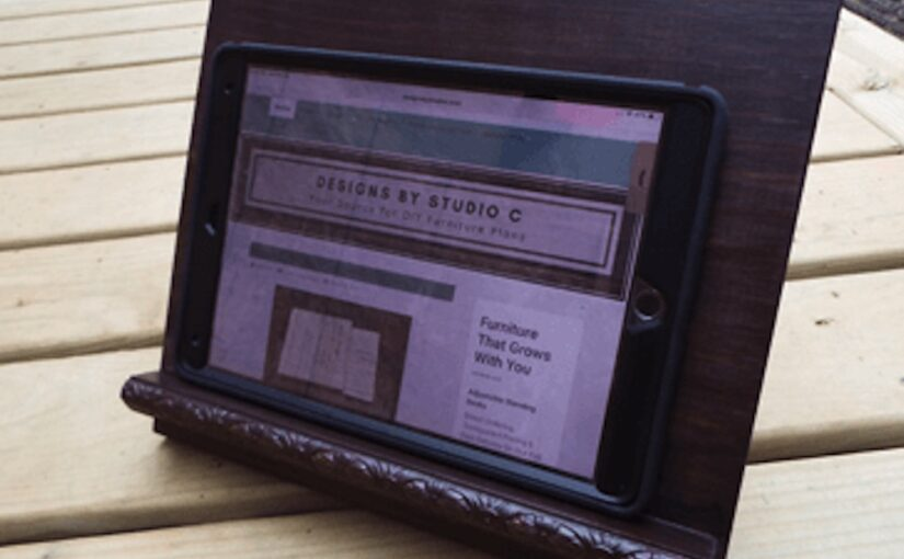 Tablet Stand Free Woodworking Plans.