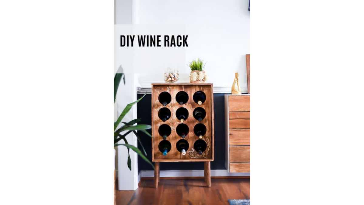 Free woodworking plans to build a wine bottle cabinet