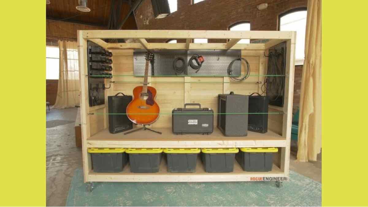 free woodworking plans, protable garage shelving
