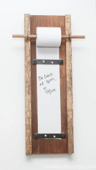 Free plans to build a Memo Note Holder.
