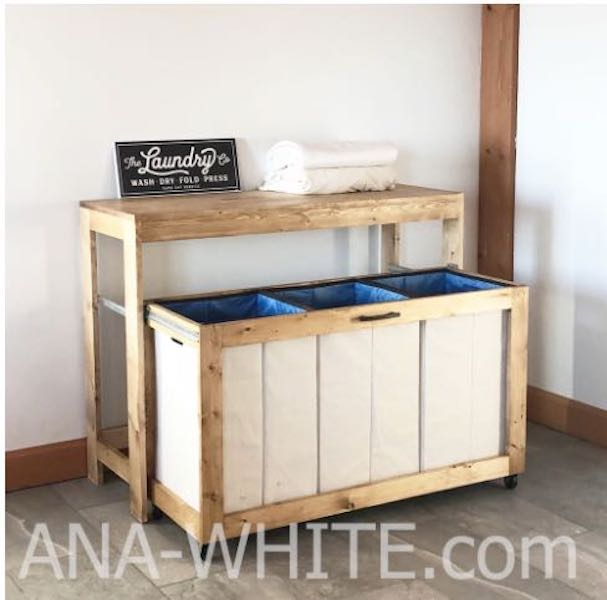 Free plans to build a Laundry Station.