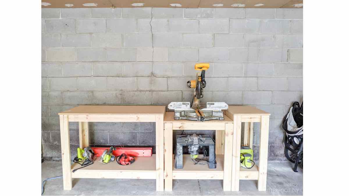 How to build a workshop miter saw table.