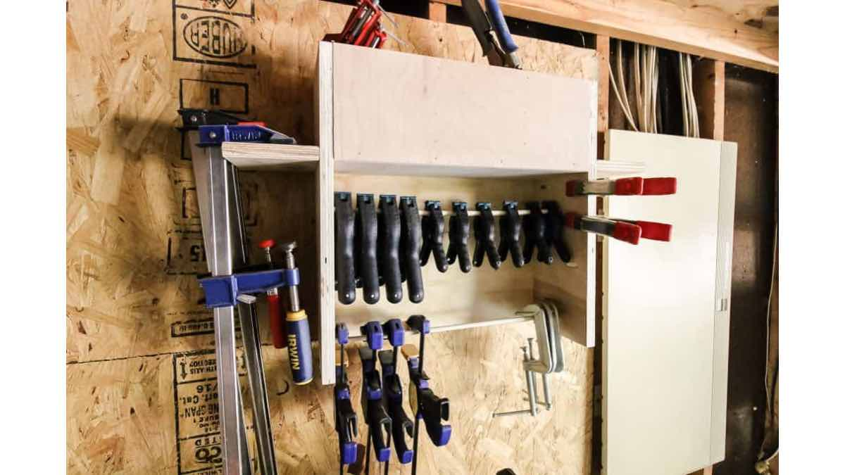 How to build a workshop clamp rack.