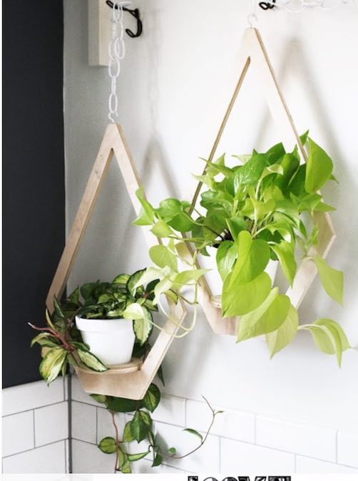 Build Hanging Planter from Plywood and free plans.