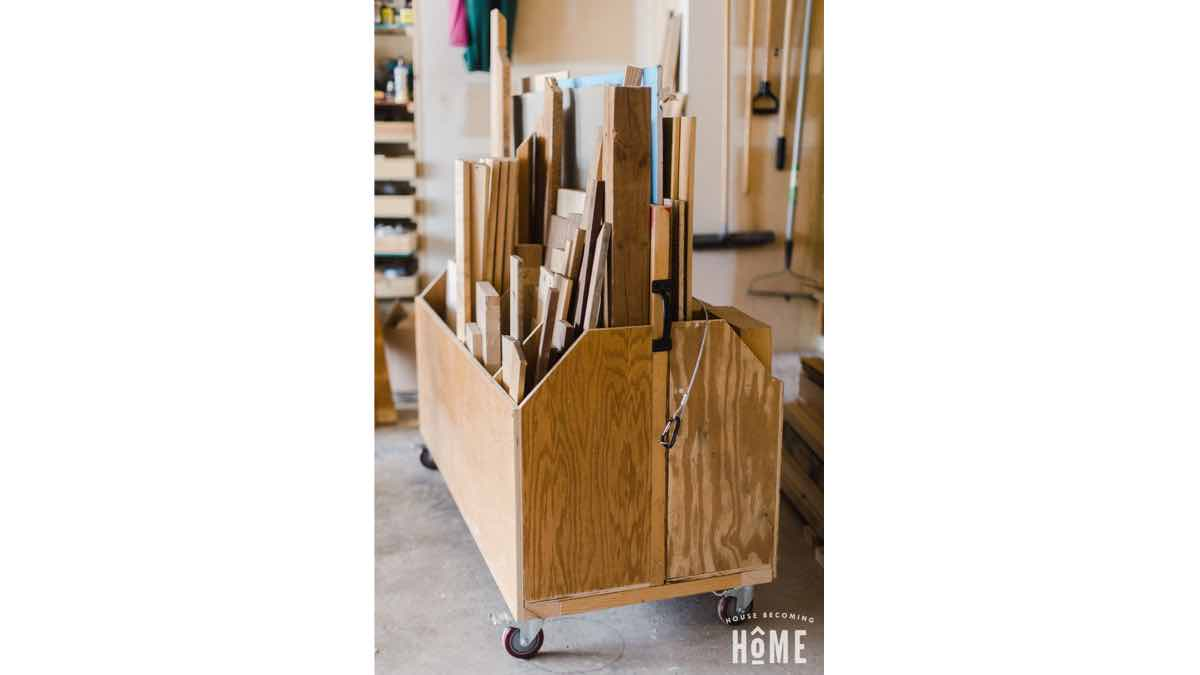 Free plans to build a small scrap bin cart.