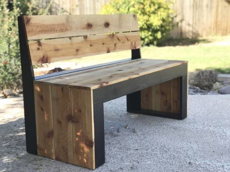 Build a Modern Bench with Back.