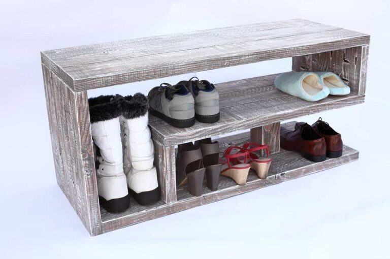 Learn to build a shoe rack bench.