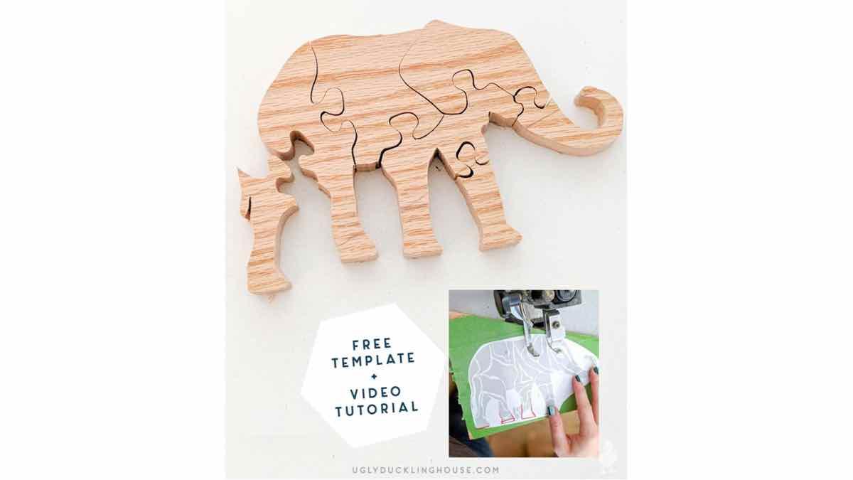 free woodworkign plans, scrollsaw puzzles, elephants