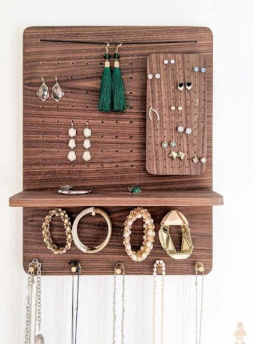Build a Simple Jewelry Organizer using free plans.