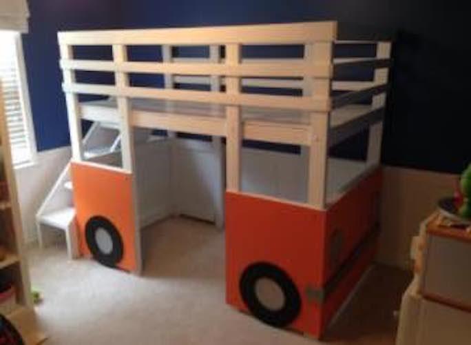 Build a Van Loft Bed using free plans.