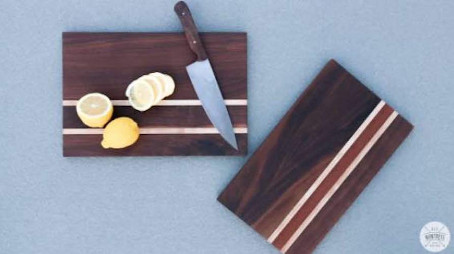 Build a Cutting Board Without a Planer using free plans.