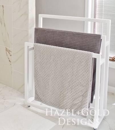 Bathroom Towel Rack on Wheels