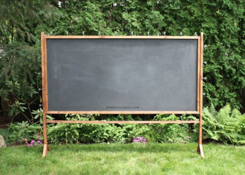 Free plans to build a Schoolhouse Chalkboard.