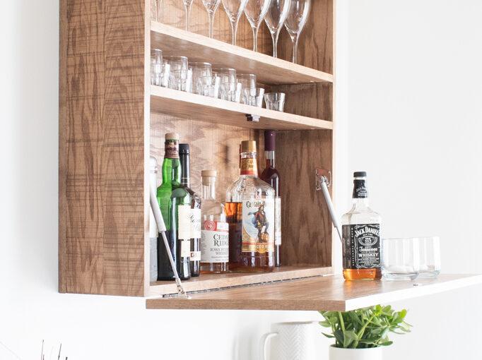 Bar Cabinet Wall Mounted