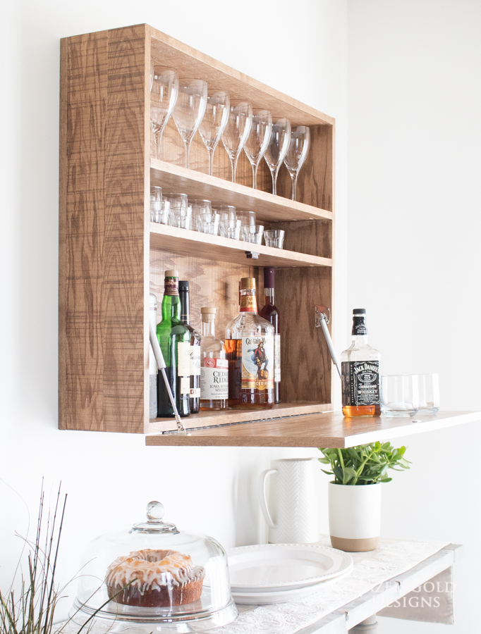 Build a Bar Cabinet that is wall mounted.
