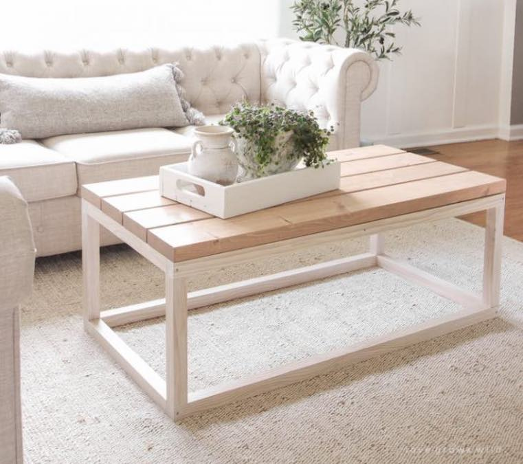 Free plans to build a Simple DIY Coffee Table.