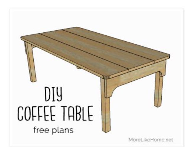 Build a Vintage Apron Coffee Table using free plans.