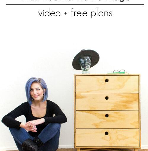 Plywood Dresser with Dowel Legs