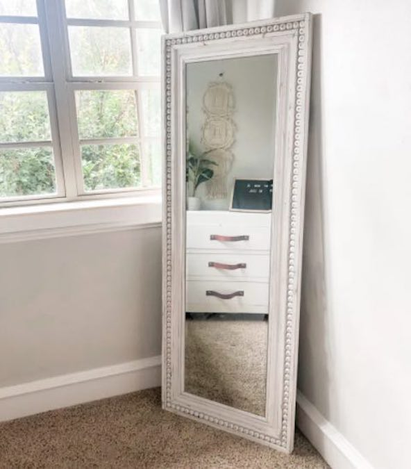 Build a Chic Full Length Mirror using free plans.