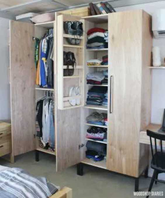 Free plans to build a Closet Cabinet.