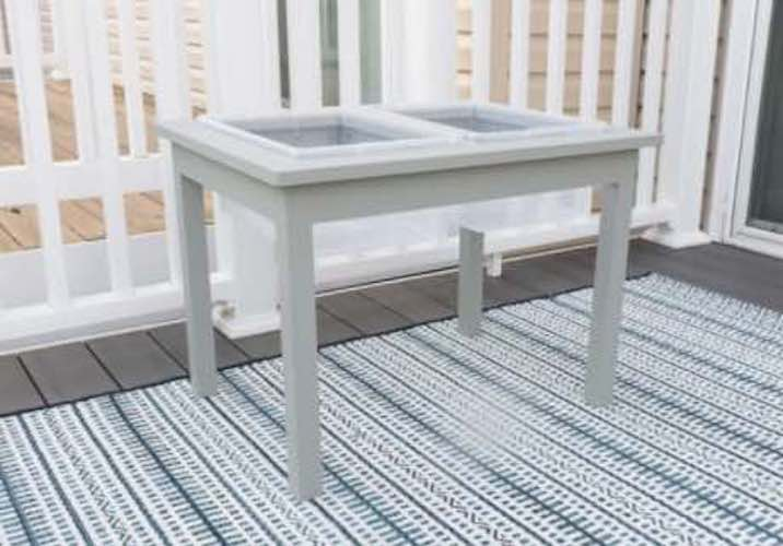 Build a Sand or Water Table using free plans.