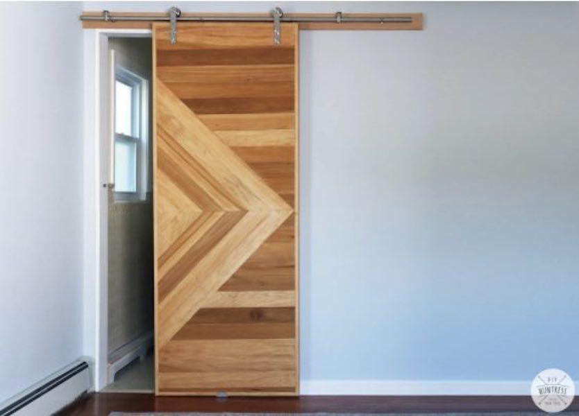 Build a Sliding Barn Door using free plans.