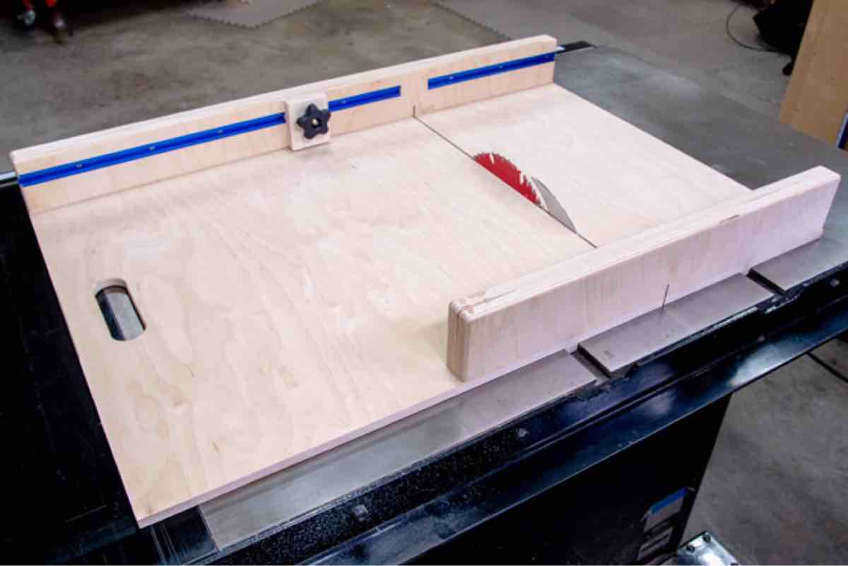 How to build a Table Saw Sled.