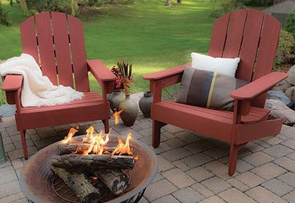 Free plans to build an Adirondack Garden Chair.