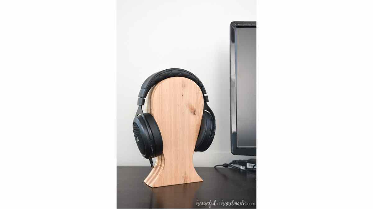 free woodworking plans, headphone rack