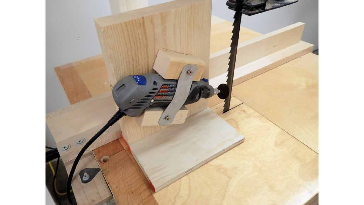 How to build a bandsaw sharpening jig.