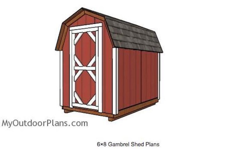 Free plans to build a Gambrel Shed.