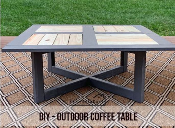 Free plans to build a Coffee Table with Optional Planter.