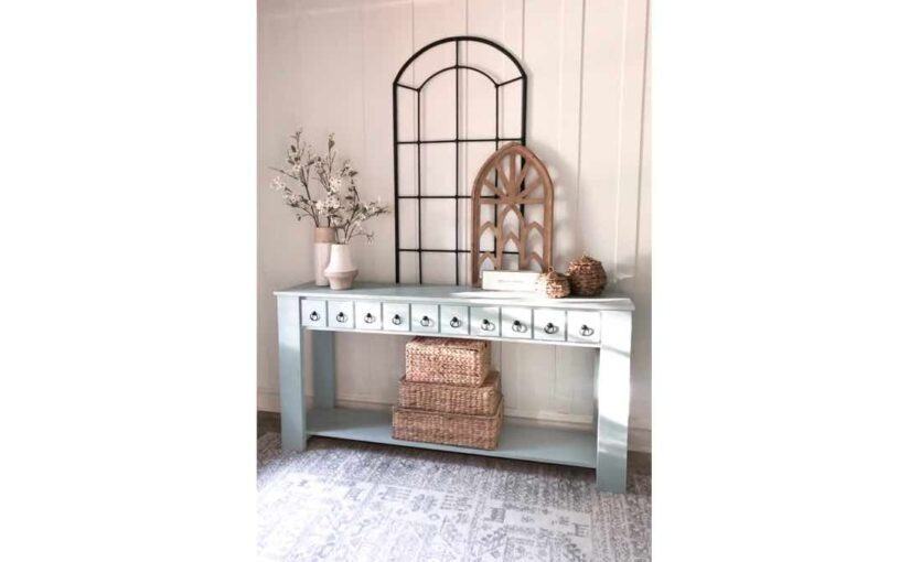 Console Table with Faux Drawer PDF