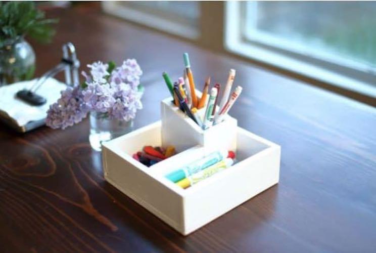 Free plans to build a Pencil Box Organizer.