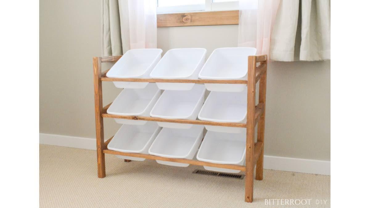 How to build a 9 bin storage rack.