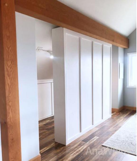 Build a Room Divider Closet using these free plans.