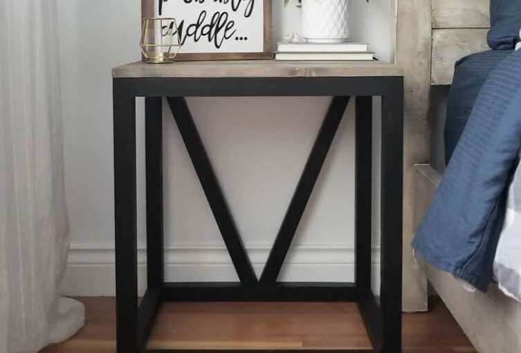 Farmhouse V Side Table