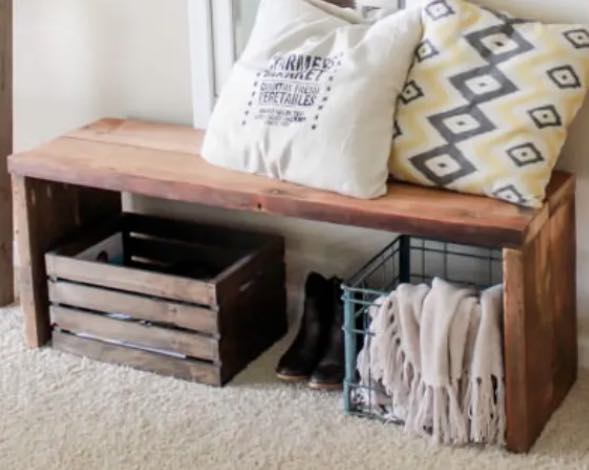 How to build a Simple Entryway Bench.