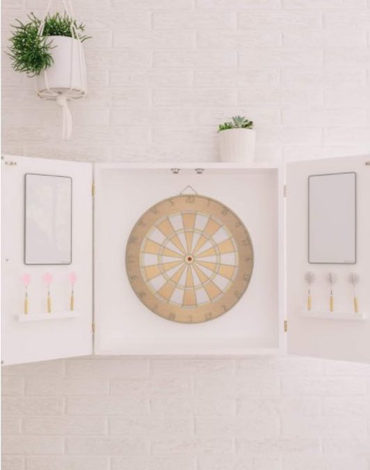 Build a Modern Dart Board Cabinet using free plans.