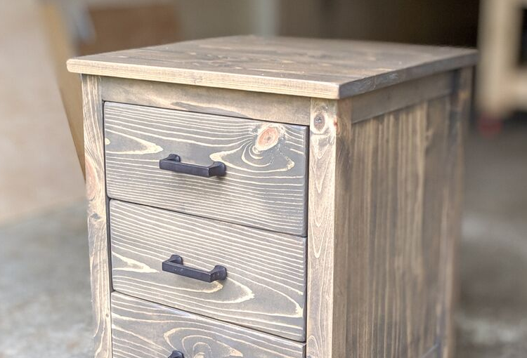 Build a 3 Drawer Nightstand with these free plans.