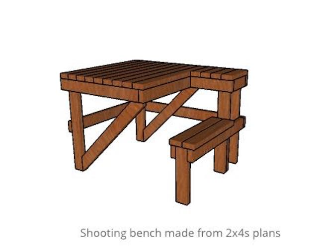 Free plans to build a Shooting Bench.