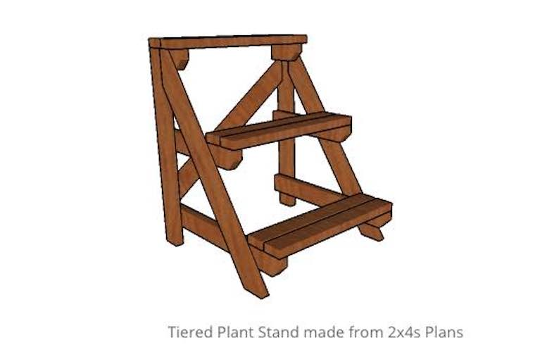 Free plans to build a Tiered Plant Stand.