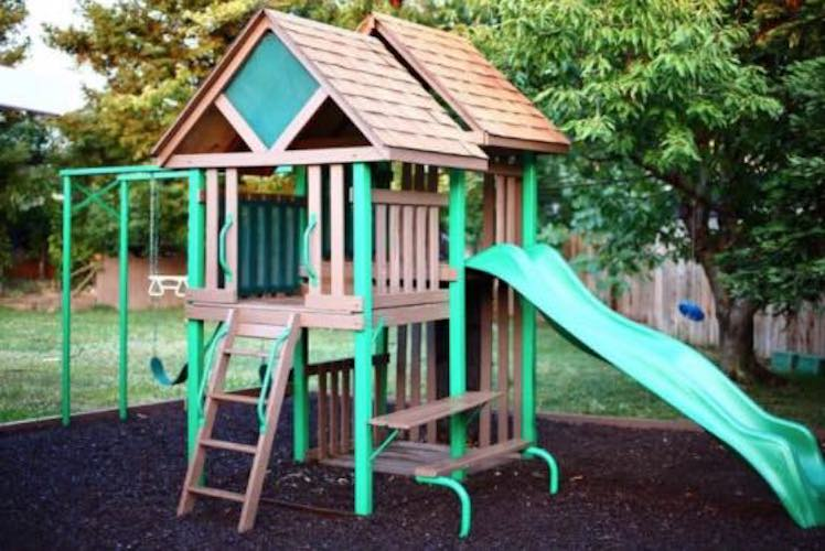 Free plans to build a Backyard Playground.