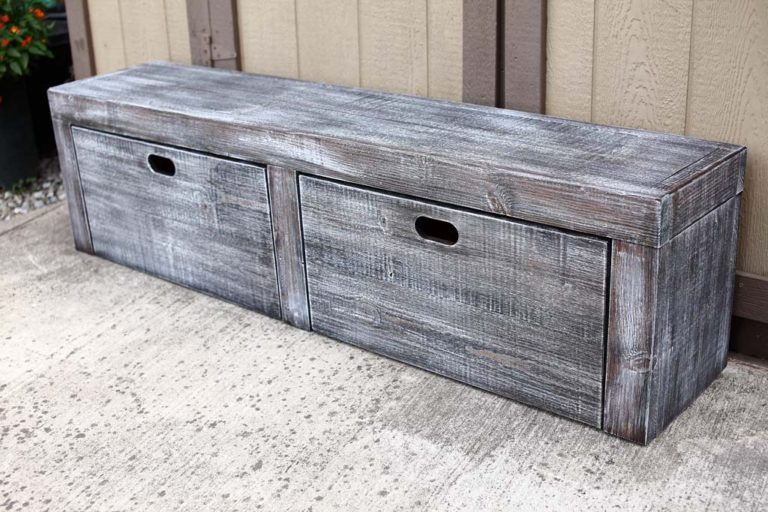 Build your own Bench with Storage.