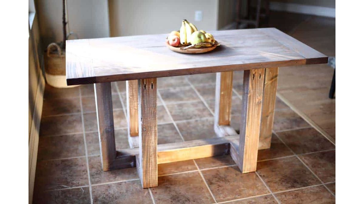 Easy DIY Breakfast Table building plans.
