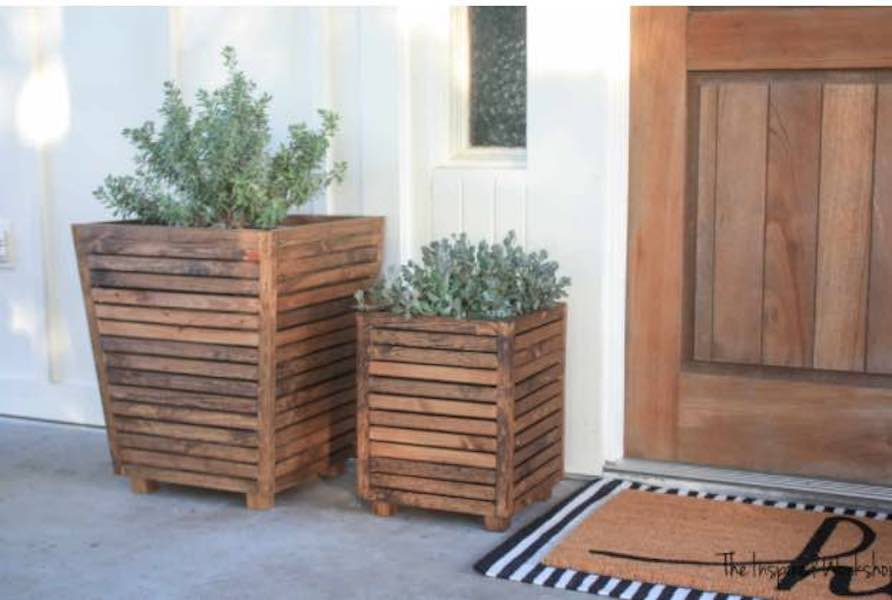Free plans to build a Planter From Scrap Wood.