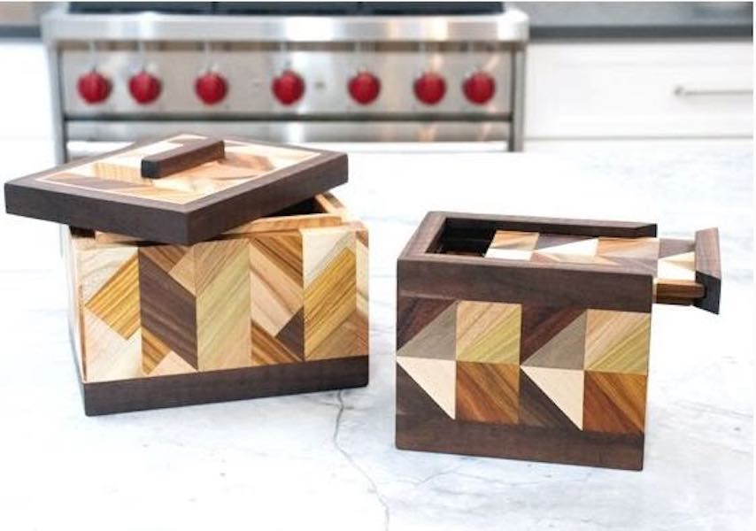 Free plans to build Patterned Boxes.
