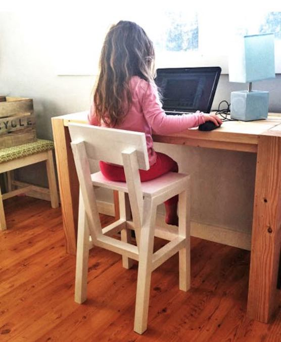 Free plans to build a Childrens Chair.